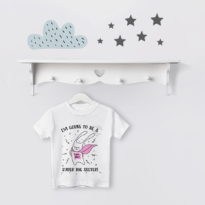 Personalised Super Big Sister to be T Shirt