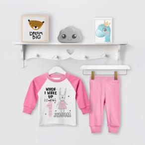 Personalised Bunny Birthday Eve Pyjamas