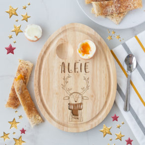 Personalised Christmas Reindeer Egg Board