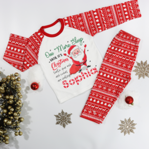 Personalised One More Sleep Christmas Pyjamas