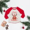 Personalised Red Nose Reindeer Baseball Tee