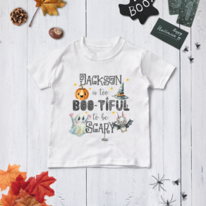 Personalised 'Too Boo-tiful' Halloween T Shirt