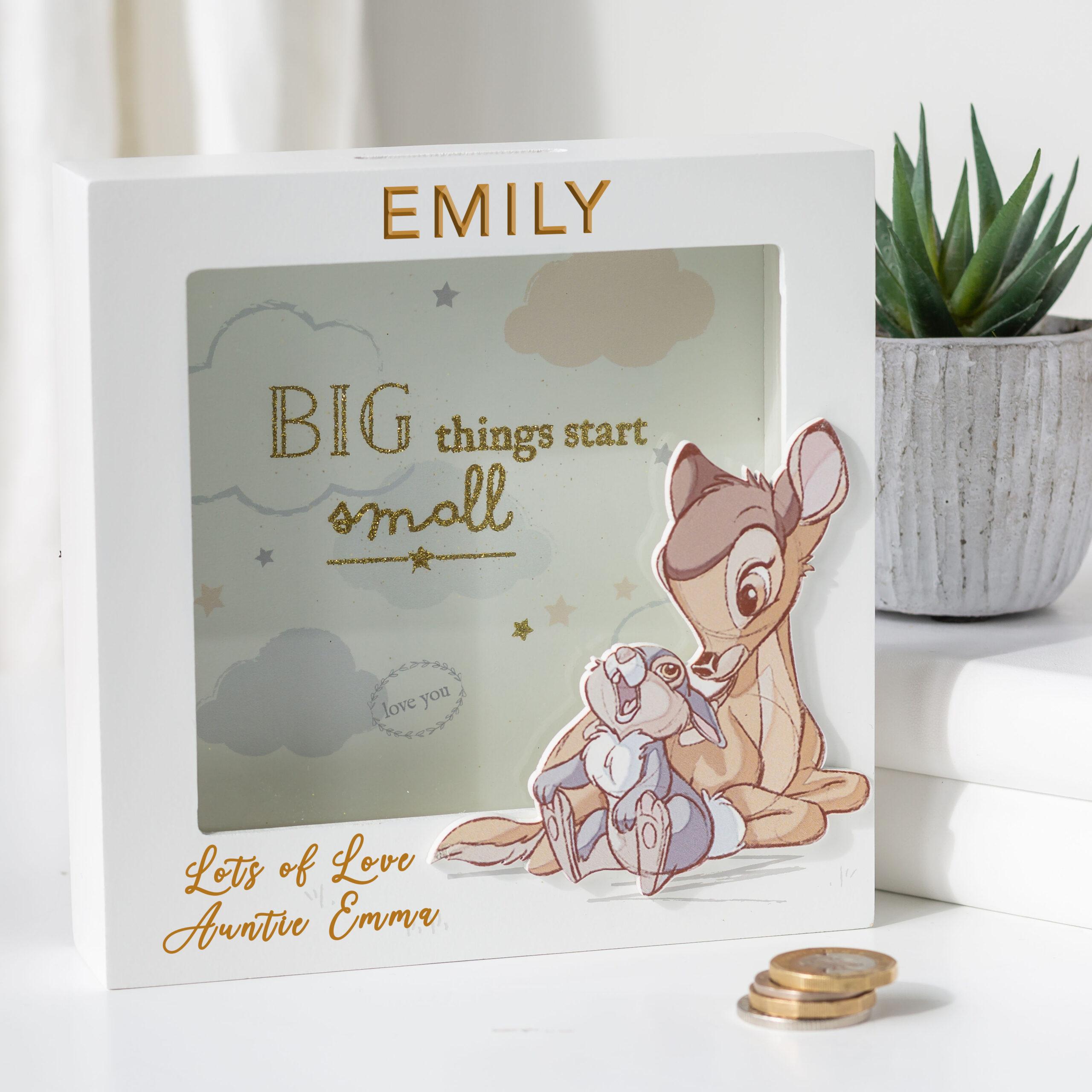 Personalised Disney Bambi Money Box