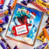 Personalised Vintage Christmas Cadbury Mixed Chocolate Box