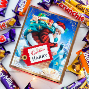 Personalised Vintage Christmas Cadbury Mixed Chocolate Box