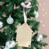 Personalised Christmas 2020 Wooden Lockdown Decoration
