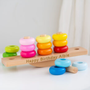 Personalised World Wooden Stacking Toy