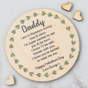 Personalised Daddy-to-be Poem Wooden Plaque