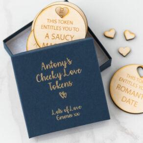Personalised Valentine Romantic/Saucy Love Token Box