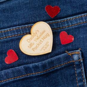 Personalised Valentines Heart Pocket Hug Token