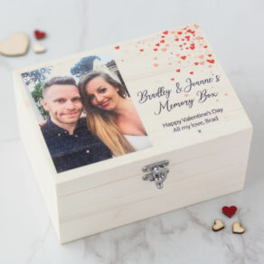 Personalised Wooden Photo Memory Box