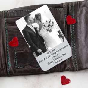 Personalised Aluminium Photo Wallet Card