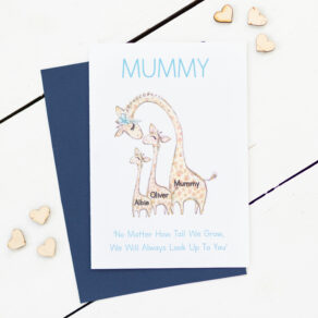 Personalised How Tall Mothers Day Giraffe Card