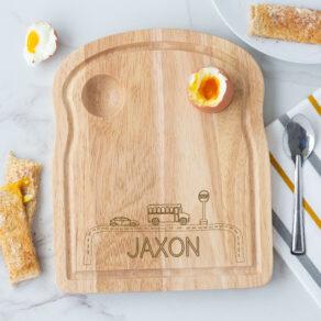 Personalised Wooden Car Breakfast Egg Board