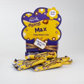 Personalised Mother's Day Cadbury Caramel Chocolate Bars x 20