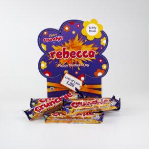 Personalised Mother's Day Cadbury Crunchie Chocolate Bars x 20