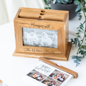 Personalised Wooden Pull Out Photo Album Holder