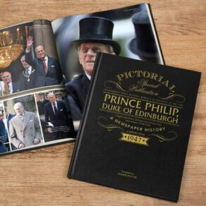A4 Personalised Hardback Pictorial Newspaper of Prince Phillip