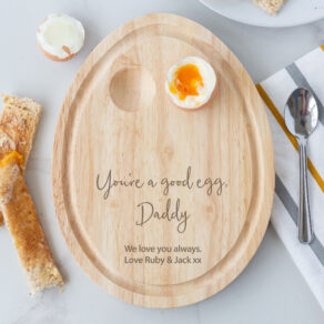Personalised Wooden You're A Good Egg Board