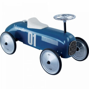 Personalised Metal Petrol Blue Classic Ride On Toy Car