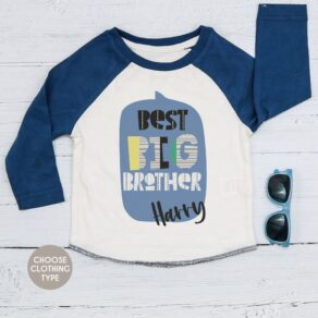 Personalised Best Big Brother Baseball Tee, T Shirt