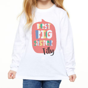 Personalised Best Big Sister T Shirt