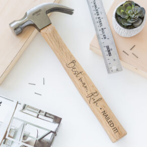 Personalised Engraved Nailed It Hammer