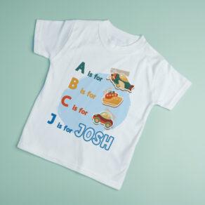 Personalised Nursery ABCs T-Shirt
