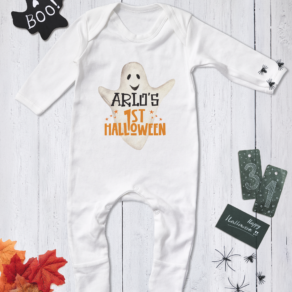 Personalised My First Halloween Ghost Babygrow, Bodysuit, T Shirt
