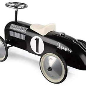 Personalised Black Classic Ride On Toy Car