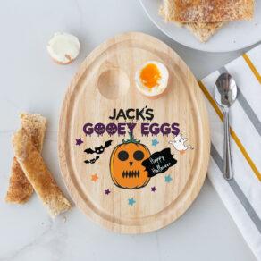 Personalised Wooden Halloween Gooey Egg Board