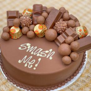Personalised Chocolate Smash Cake