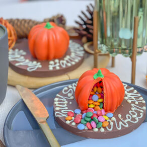 Personalised Mini Smash Chocolate Halloween Pumpkin