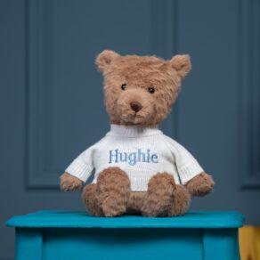 Personalised Jellycat Cocoa Bear Medium Teddy Soft Toy