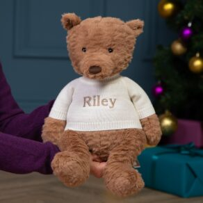 Personalised Jellycat Cocoa Bear Large Teddy Soft Toy