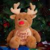 Personalised First Christmas Reindeer Teddy