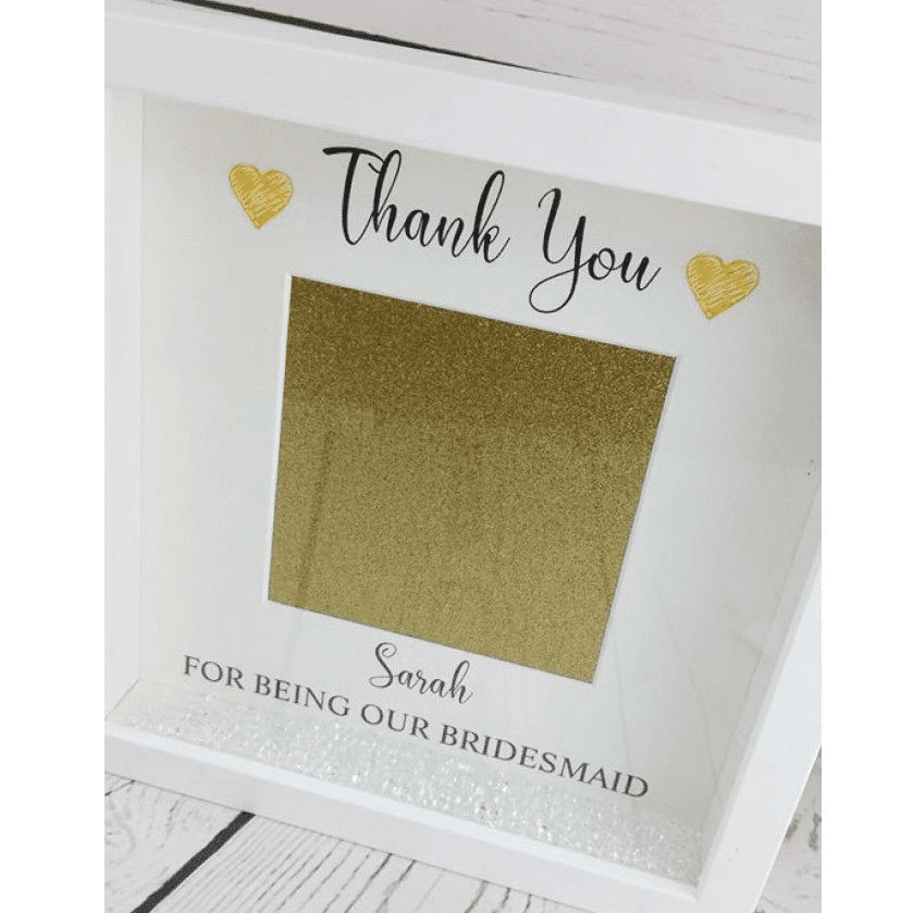Thank You For Being Our Bridesmaid\' Photo Frame | Love Unique Personal