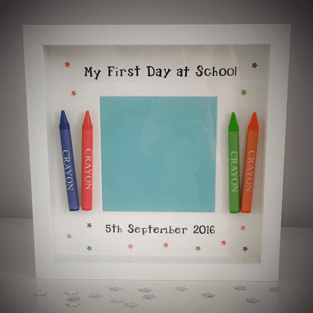 Back To School - My First Day at School Crayon Frame