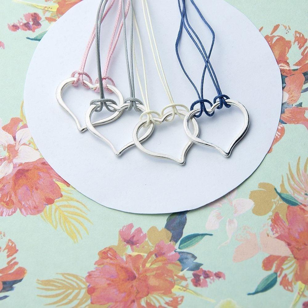 Personalised Open Heart Friendship Bracelet