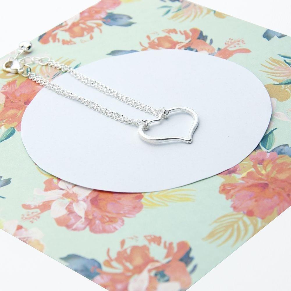 Personalisedsilver Plated Open Heart Friendship Bracelet