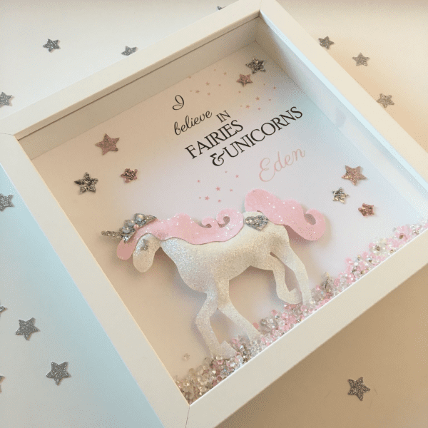 I Believe In Fairies Amp Unicorns Glitter Unicorn Frame