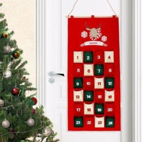 Personalised Christmas Felt Advent Calendar