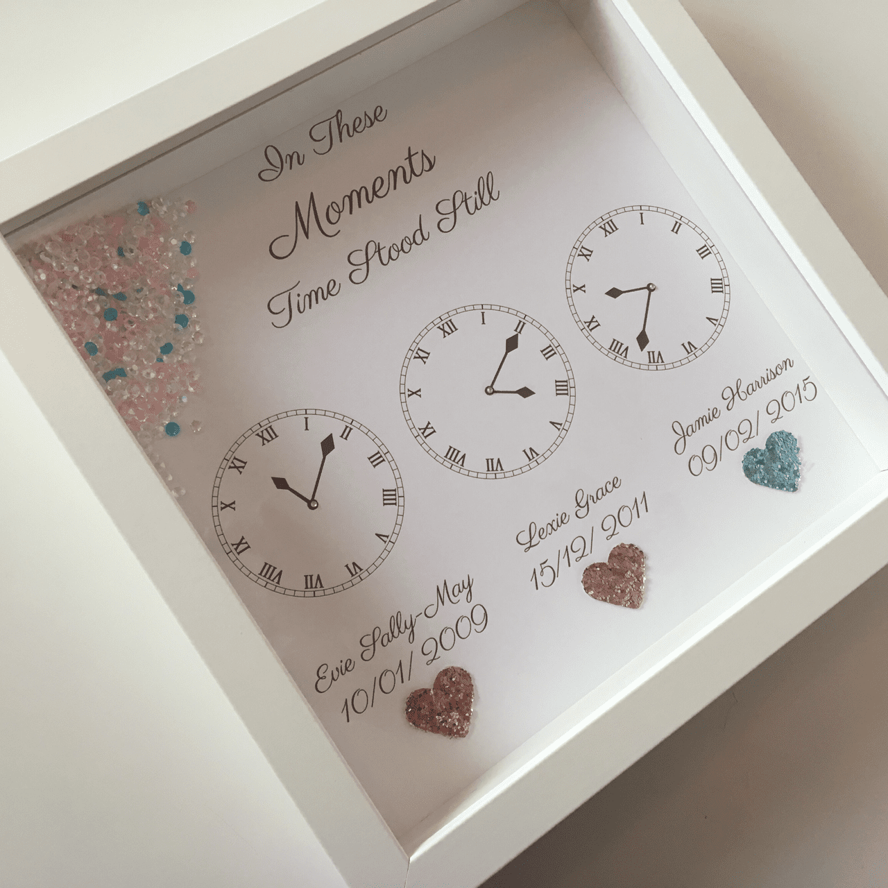Time Stood Still Printed Clock Design