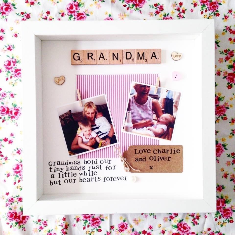Grandma Personalised Scrabble Frame Love Unique Personal