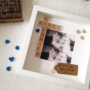 Daddy and Daughter Scrabble Frame