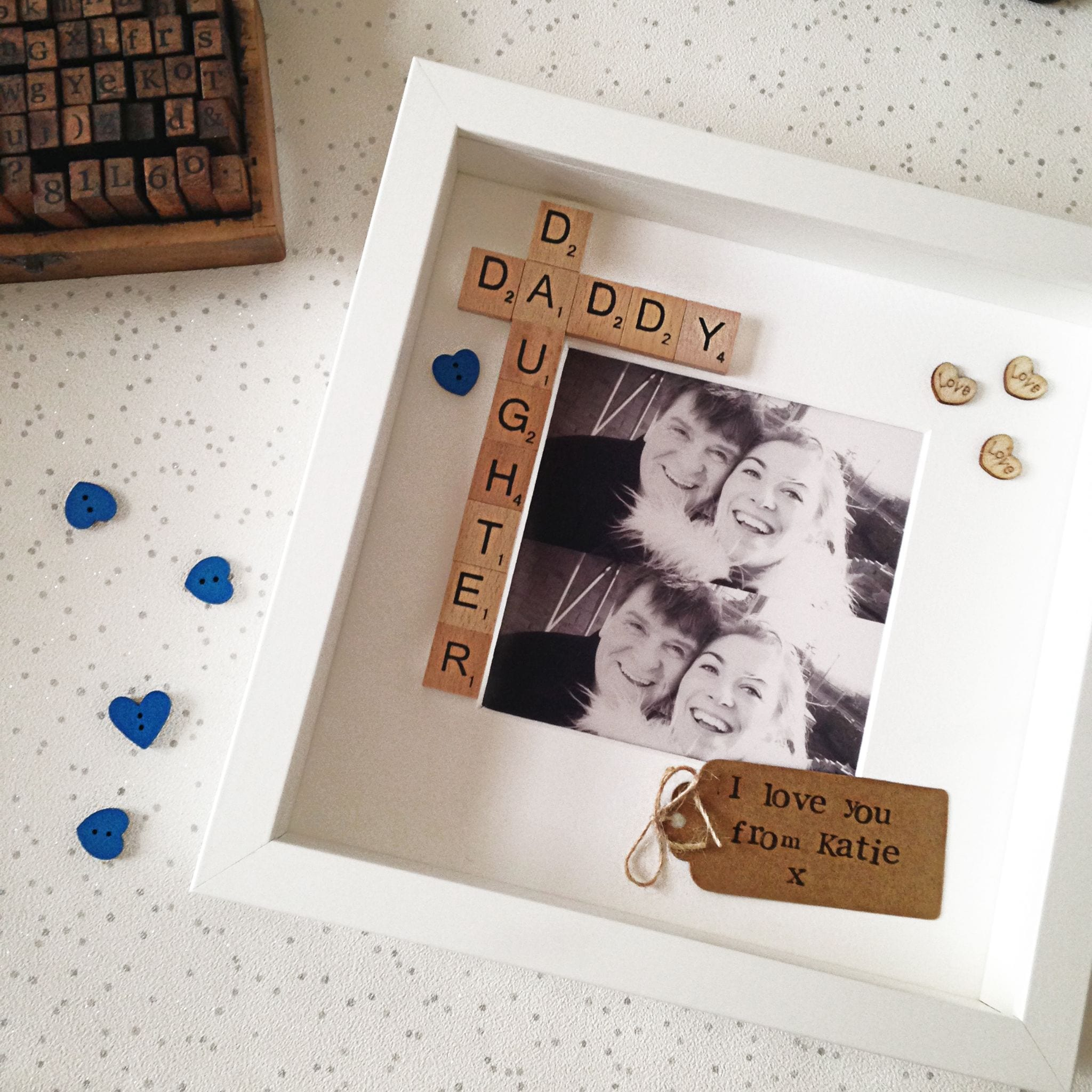 Daddy And Daughter Scrabble Frame Love Unique Personal