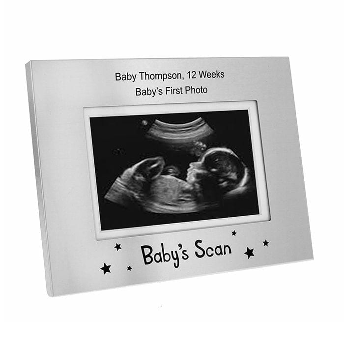 Personalised Baby Scan 4.5 x 3 Frame   Love Unique Personal