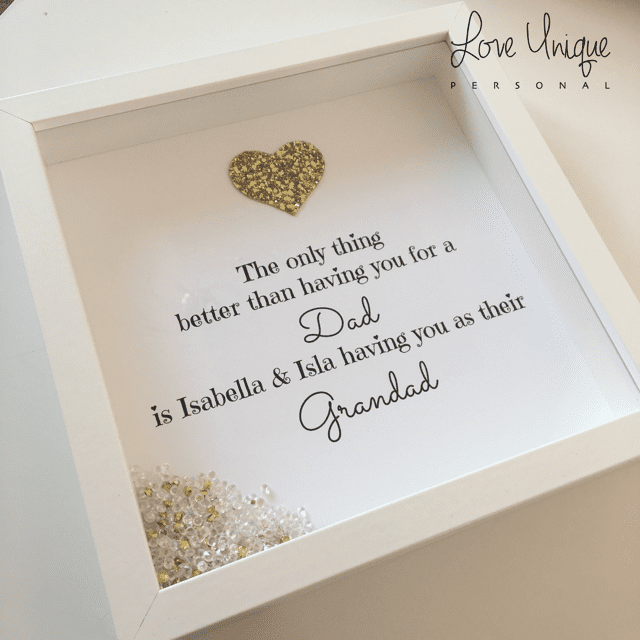 The Only Thing Better... Dad\' Personalised Frame | Love Unique Personal