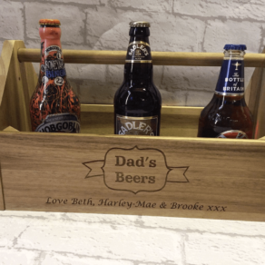 Personalised Wooden Beer Caddy
