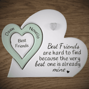 Best Friend Wooden Triple Heart Jigsaw